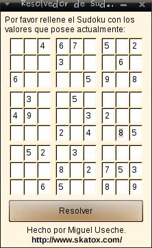 GUI del Sudoku