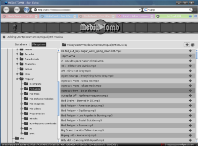Mediaboy web interface
