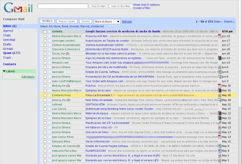 Diseño de Gmail con Gris y Azul