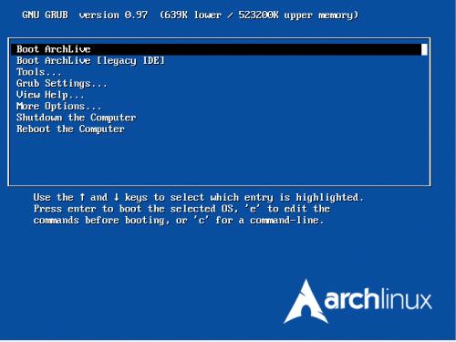Archlinux\'s Grub