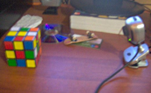 Webcam escaneado el cubo de rubik
