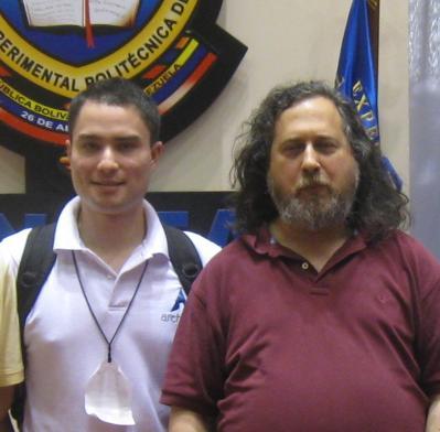 Skatox y Richard Stallman