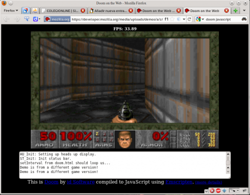 Doom corriendo en Firefox gracias a Javascript