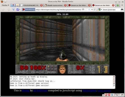 Doom corriendo en Firefox gracias a Javascript