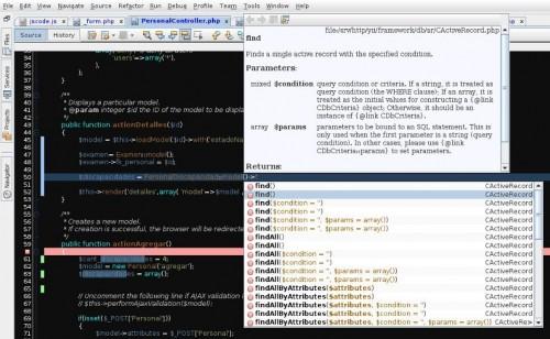 Completado de código PHP con Yii en Netbeans