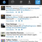 Twitter en Firefox Mobile