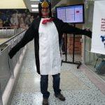 Richzendy disfrazado de pinguino