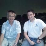 Con el profesor Jorge Castellanos de la UC