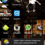 Mi pantalla principal de Android