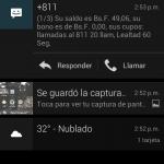 Sistema de notificaciones de CM10, observen como se puede respoder un SMS desde allí
