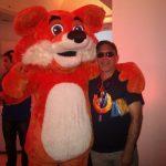Xombra con la mascota de Firefox OS