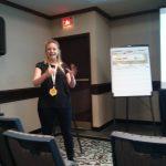 Michaela hablando sobre como promover Mozilla en redes sociales