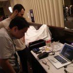 Leonard Camacho controlando el navegador con su cabeza