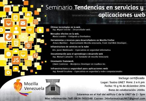 Seminario: Tendencias en servicios y aplicaciones Web