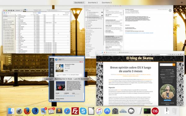 """Captura de pantalla de OS X """"El capitan"""""""