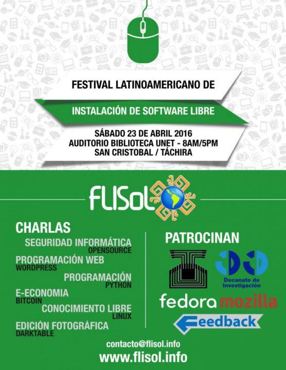 Afiche del Flisol 20016 del Táchira