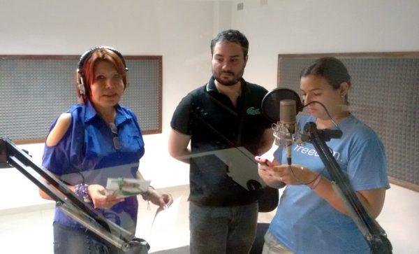 Skatox y Tatica en el Pendrive de Lourdes promocionando el flisol