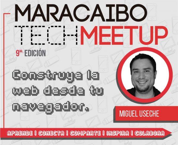 Afiche de mi ponencia en el Maracaibo Tech Meetup