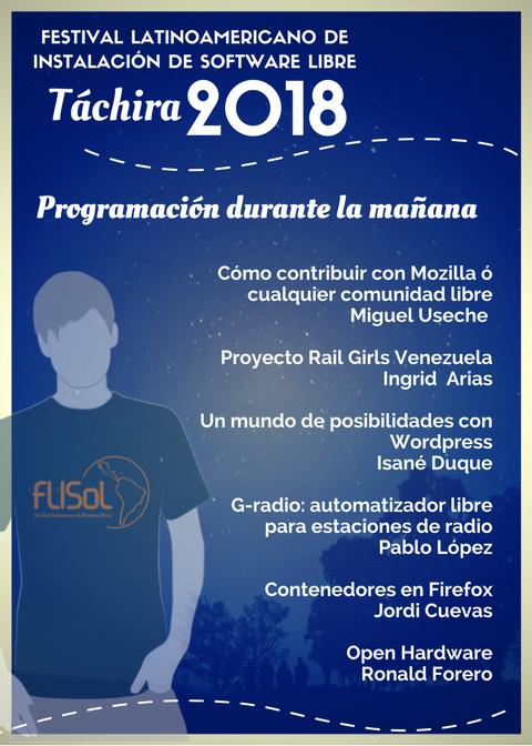 Ponencias del FLISOL 2018 planificadas para la mañana