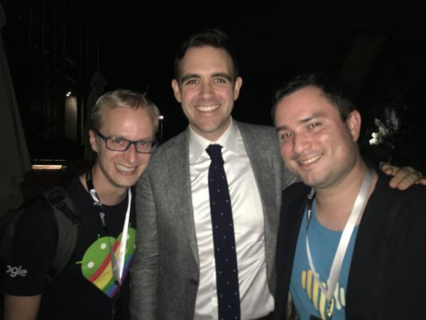 Con Matías y Tom Dale