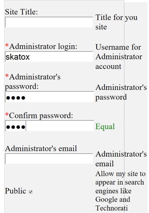 Credenciales para sitios de WordPress