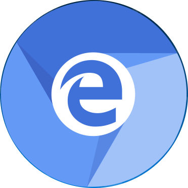 Edge logo inside Chromium logo