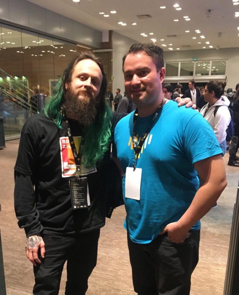 Con Jaydson Gomes organizador del del BrazilJS Conf 2019