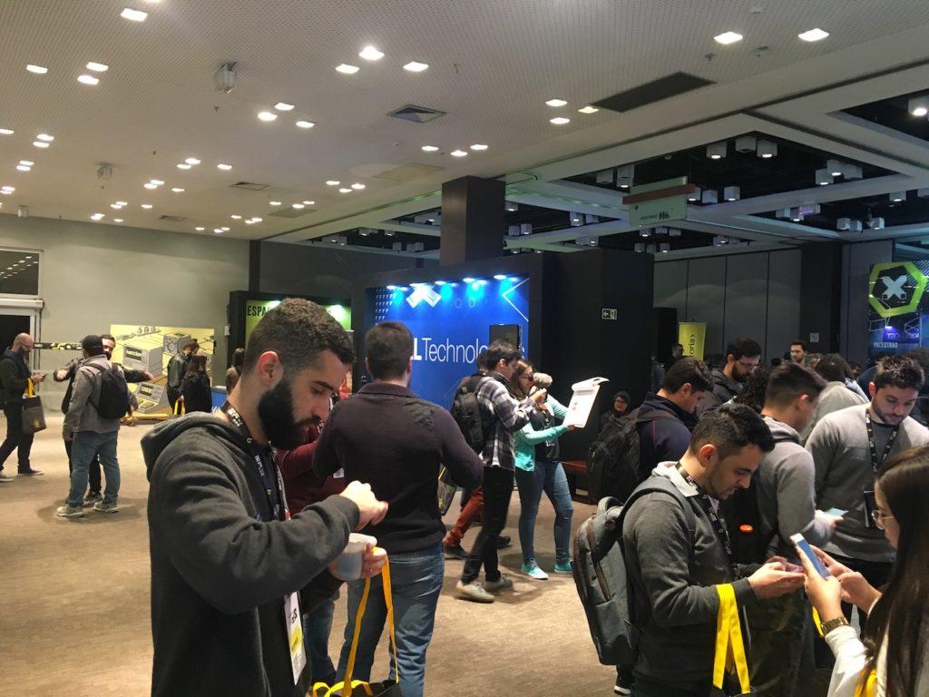 Stand de Patrocinantes del del BrazilJS Conf 2019